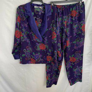 Victoria Secret Pajama Set Two Piece Floral M